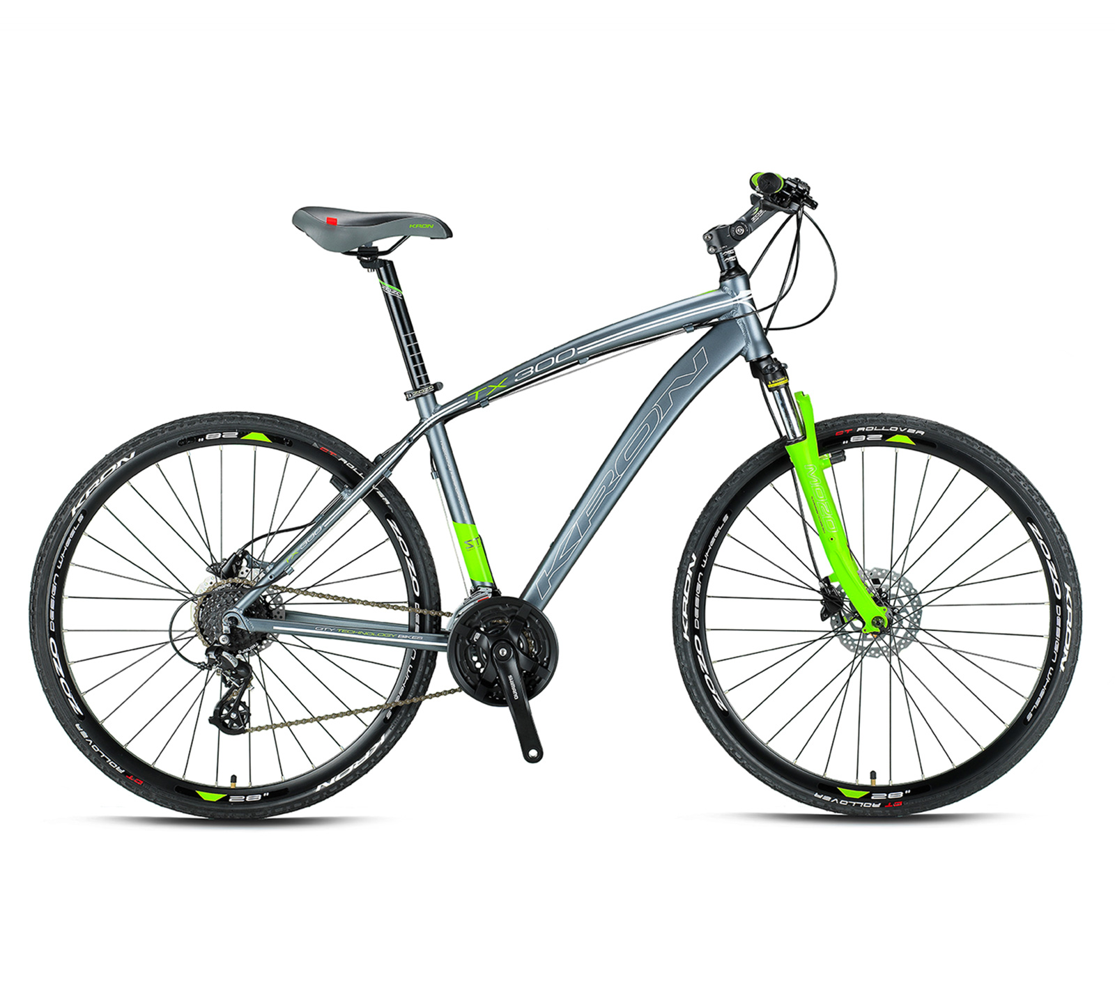 KRON TX 300 - 28' CITY BIKE - 18'' - 24 Vites - H. Disk